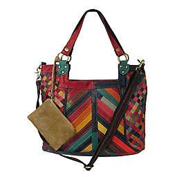Amerileather Hazelle Leather Handbag in Rainbow