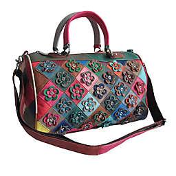 Amerileather Francienne Leather Handbag in Rainbow