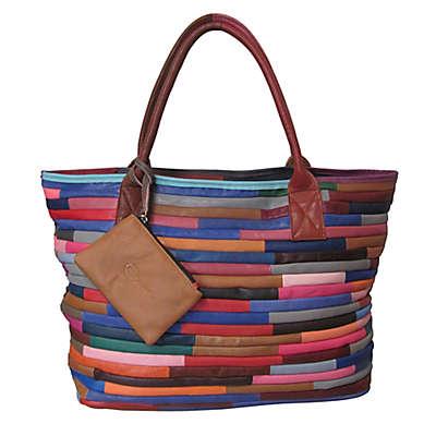 Amerileather Rozaly Leather Handbag in Rainbow