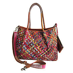 Amerileather Linwood Leather Tote Bag in Rainbow