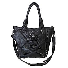 Amerileather QMetal Crossbones Handbag