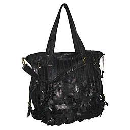 Amerileather Brook Leaf-Cut Leather Tote Bag
