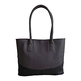 Amerileather Casual Leather Travel Tote Bag in Moss/Black