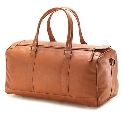 Clava® Vachetta Collection 19-Inch Leather Barrel Duffle