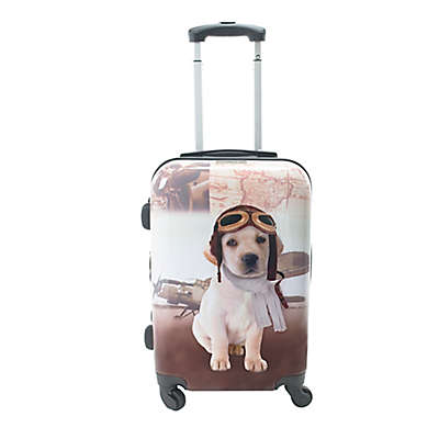 Chariot 20-Inch Oldies Puppy Hardside Spinner Suitcase