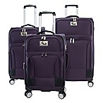 Chariot Naples 3-Piece Expandable Luggage Set in Purple