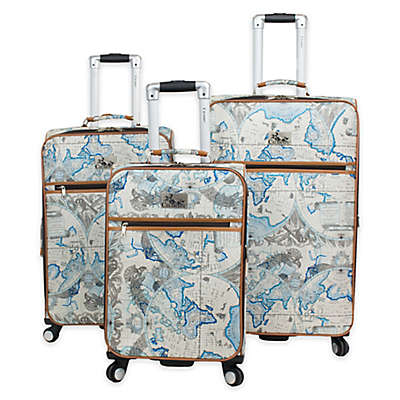 Chariot Map 3-Piece Expandable Luggage Set
