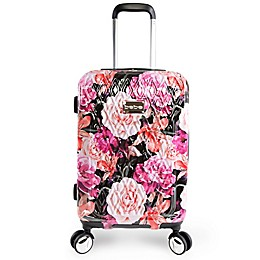 BEBE Marie 21-Inch Rolling Hardside Carry On Spinner in Floral