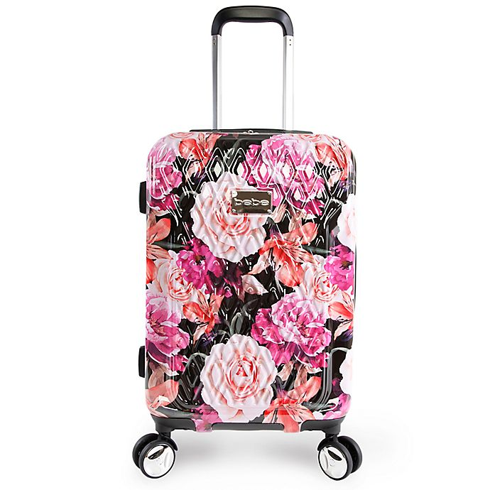 Alternate image 1 for BEBE Marie 21-Inch Rolling Hardside Carry On Spinner in Floral