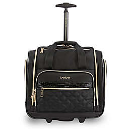 0deeec65b497 BEBE Leena 15.5-Inch Rolling Under the Seat Carry On Tote in Black