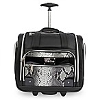 BEBE Tiana 15.5-Inch Rolling Under the Seat Carry On Tote in Black