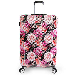 BEBE Marie 29-Inch Rolling Hardside Checked Spinner in Floral