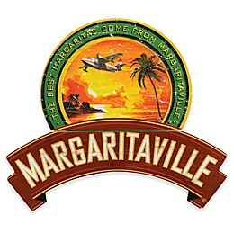 Margaritaville® Plane and Palms 25.5-Inch x 28-Inch Wall Art in Red/Green