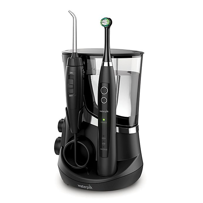 Alternate image 1 for Waterpik® Complete Care 5.5 Flosser + Oscillating Toothbrush System in Black