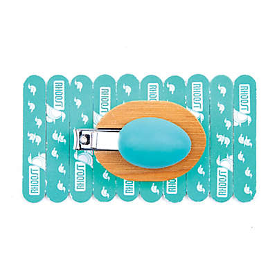 Rhoost™ Baby Nail Clipper and 10-Pack Emery Board Set in Teal