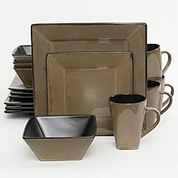 Gibson Kiesling 16-Piece Dinnerware Set in Taupe