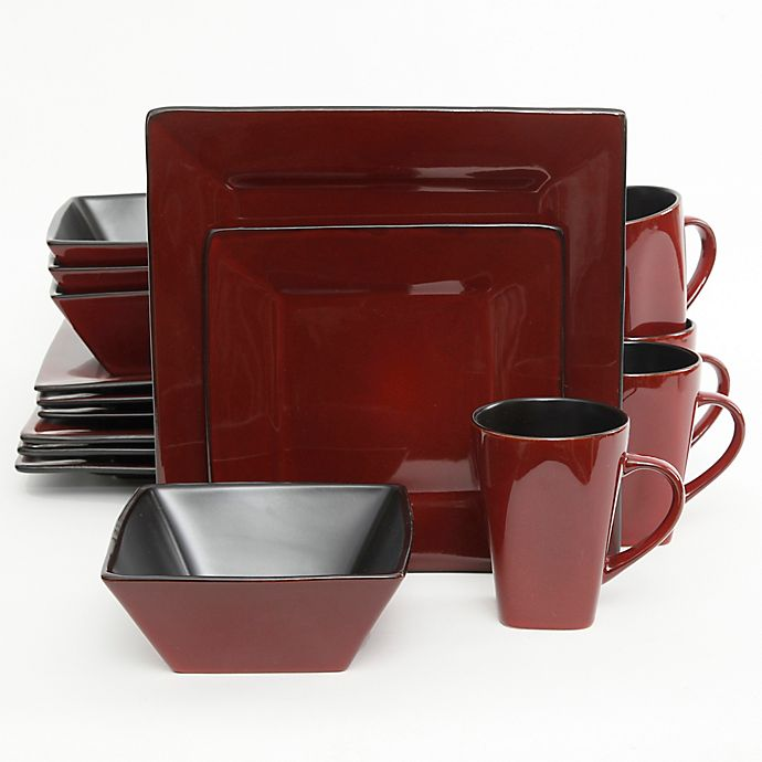 Alternate image 1 for Gibson Kiesling 16-Piece Dinnerware Set in Red