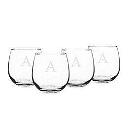 Cathy's Concepts Stemless Red Wine Glasses (Set of 4)