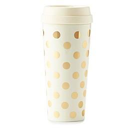 kate spade new york Gold Dots Thermal Travel Mug