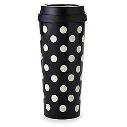 kate spade new york Le Pavillion Dot Thermal Travel Mug in Black
