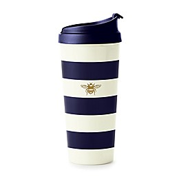 kate spade new york Navy Stripe Thermal Travel Mug