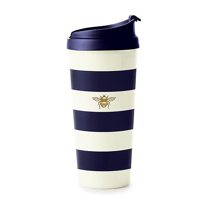 Alternate image 1 for kate spade new york Navy Stripe Thermal Travel Mug