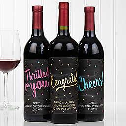 Congratulations Wine Bottle Labels