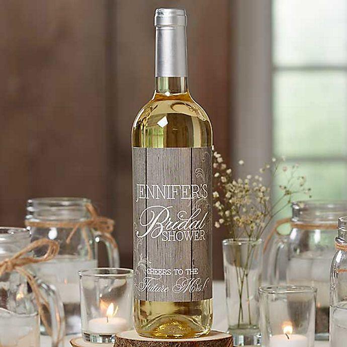 Alternate image 1 for Rustic Bridal Shower Wine Bottle Labels