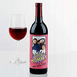Super Hero Wine Bottle Label
