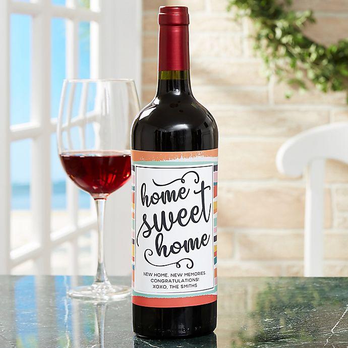 New Home Wine Bottle Label