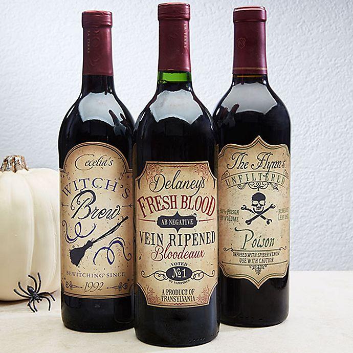 Alternate image 1 for Vintage Halloween Wine Bottle Labels (Set of 3)