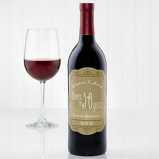 Alternate image 1 for Anniversary Scroll of Love Wine Bottle Label