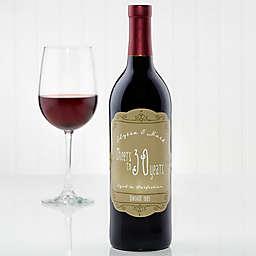 Anniversary Scroll of Love Wine Bottle Label