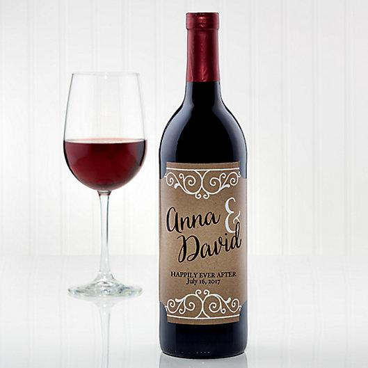 Alternate image 1 for Rustic Chic Wedding Wine Bottle Label
