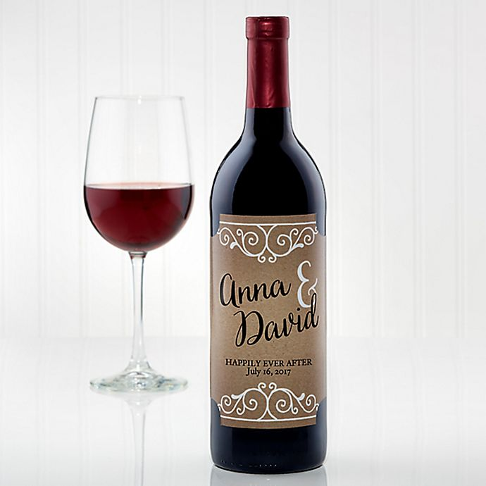 Rustic Chic Wedding Wine Bottle Label | Bed Bath & Beyond