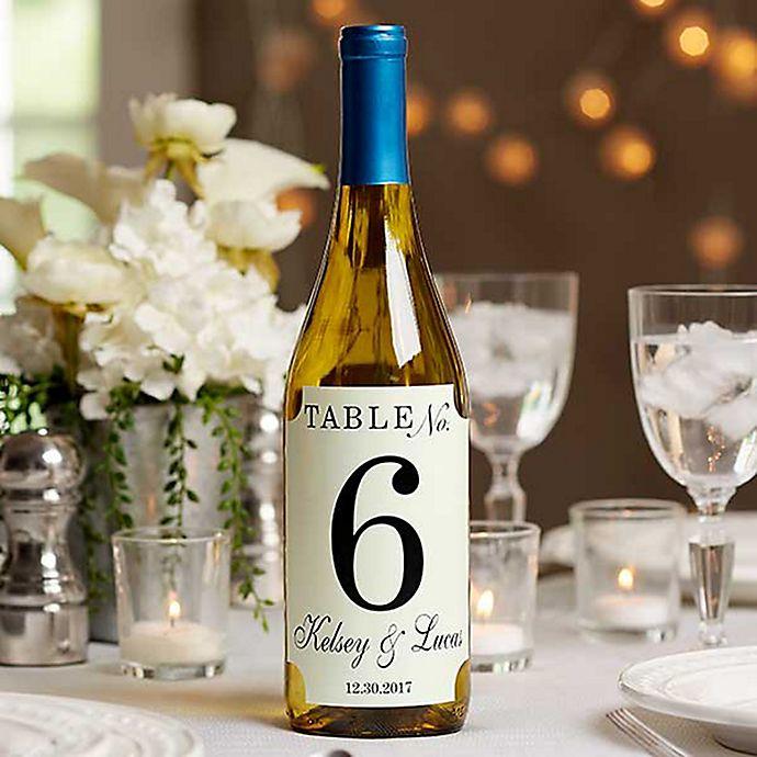 Alternate image 1 for Wedding Table Number Wine Bottle Label