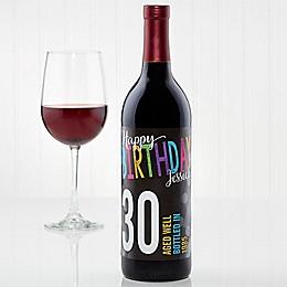 Bold Birthday Wine Bottle Label