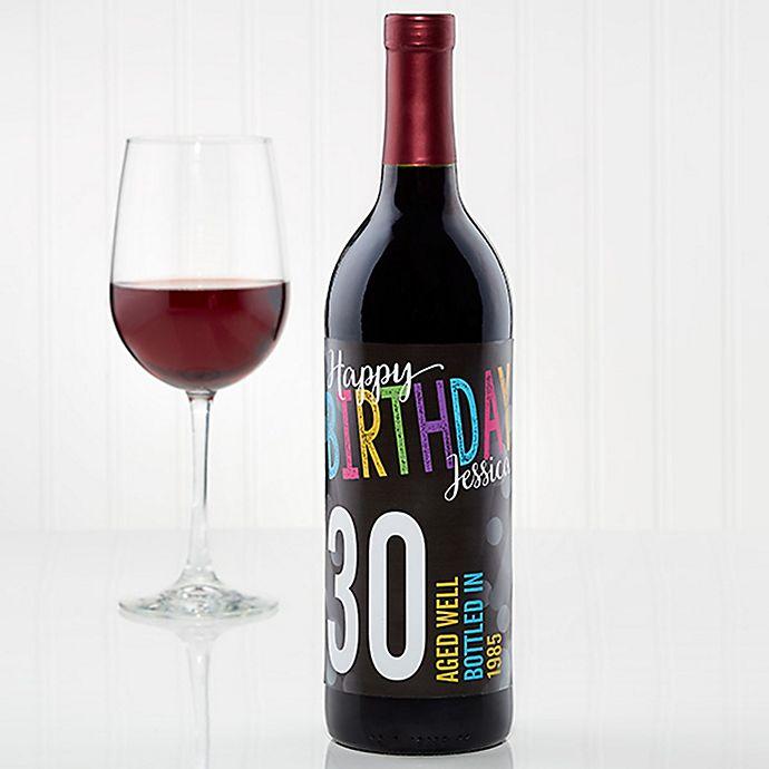 Alternate image 1 for Bold Birthday Wine Bottle Label