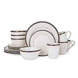 Pfaltzgraff® Promenade Column 16-Piece Dinnerware Set in White