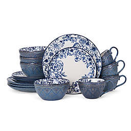 Pfaltzgraff® Gabriela 16-Piece Dinnerware Set in Blue