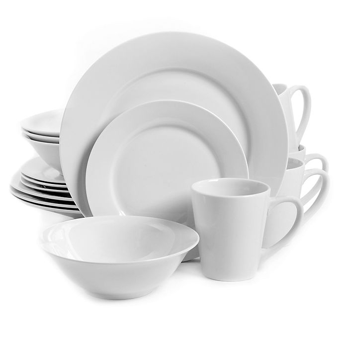 Alternate image 1 for Gibson Home Noble Court 16-Piece Dinnerware Set in White