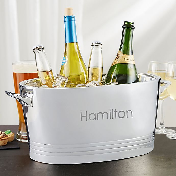 Alternate image 1 for Top Shelf Personalized Stainless Steel Double-Wall Cocktail Party Tub