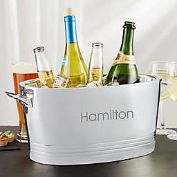 Top Shelf Personalized Stainless Steel Double-Wall Cocktail Party Tub