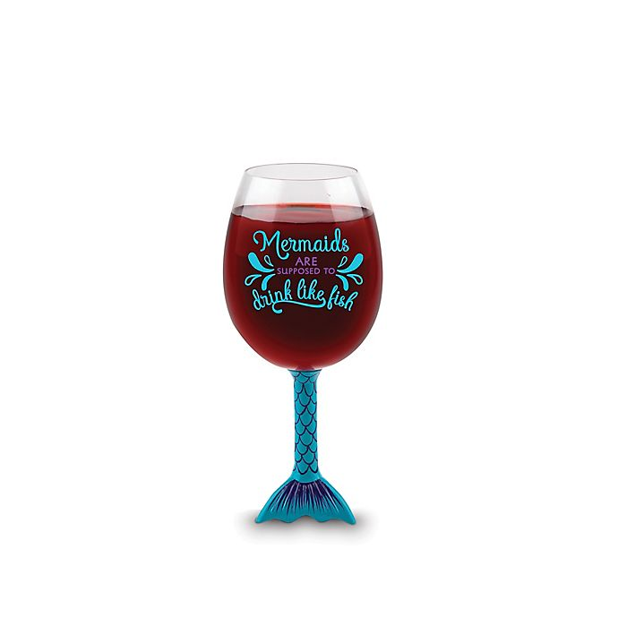 Alternate image 1 for BigMouth Inc. Mermaid Tail XL Wine Glass