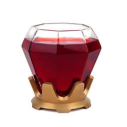 BigMouth Inc. The Diamond Ring Wine Glass and Coaster Set