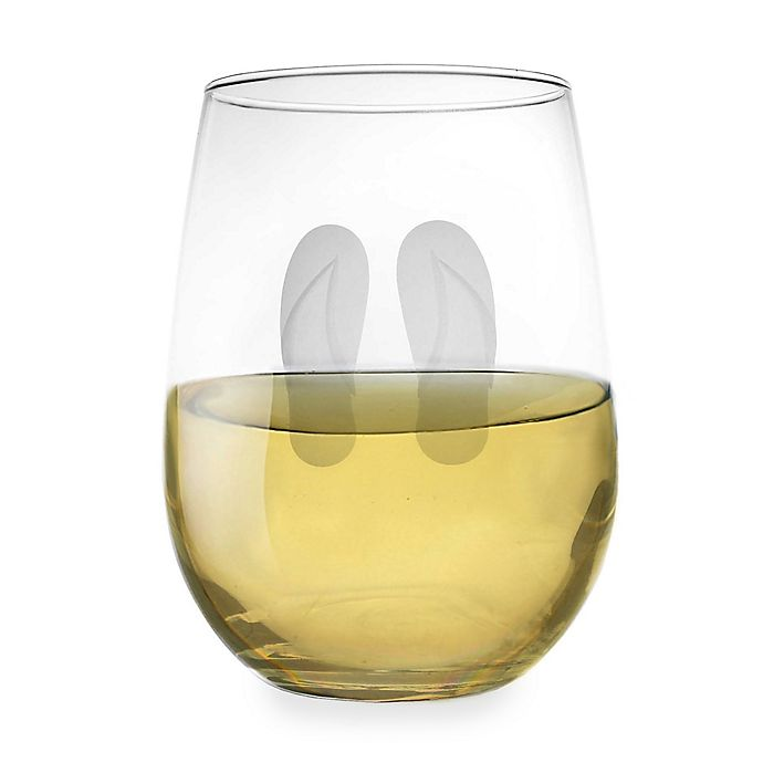 Alternate image 1 for Flip Flop Stemless Wine Glass