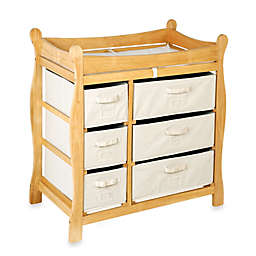 Badger Basket Sleigh Changing Table with 6 Baskets