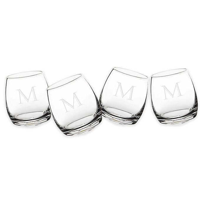 Alternate image 1 for Cathy's Concepts Tipsy Whiskey Glasses (Set of 4)