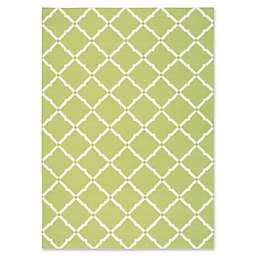 Nourison Home & Garden Geometric 7'9 x 10'10 Indoor/Outdoor Area Rug in Green