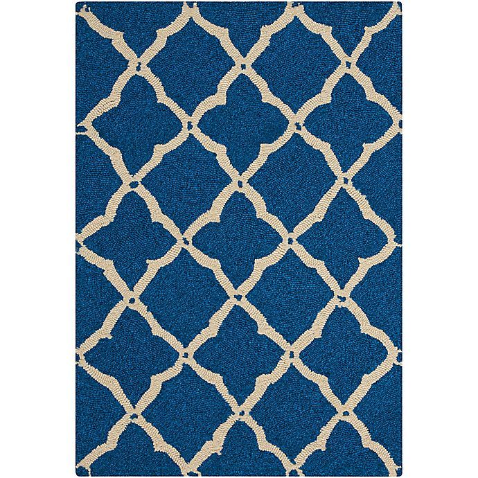 Alternate image 1 for Nourison Home & Garden Portico 27' x 45' Area Rug in Navy